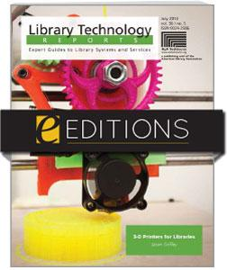 3-D Printers for Libraries—eEditions e-book