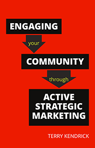 book cover for Engaging your Community through Active Strategic Marketing
