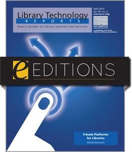 E-book Platforms for Libraries--eEditions eBook
