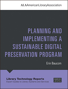 book cover for Planning and Implementing a Sustainable Digital Preservation Program