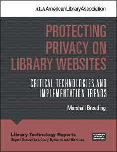 book cover for Protecting Privacy on Library Websites