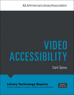 book cover for Video Accessibility