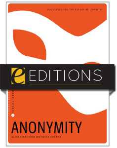cover image for Anonymity--e-book
