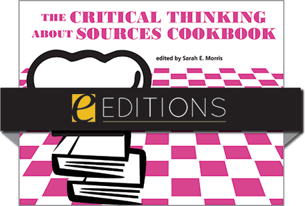cover image for The Critical Thinking About Sources Cookbook—eEditions PDF e-book