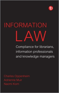 book cover for Information Law: Compliance for Librarians, Information Professionals and Knowledge Managers