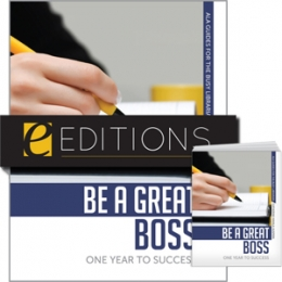 Be a Great Boss: One Year to Success--print/e-book Bundle