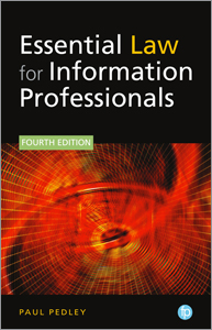 book cover for Essential Law for Information Professionals, Fourth Edition