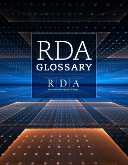 book cover for RDA Glossary