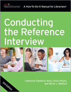 book cover for Conducting the Reference Interview, Third Edition