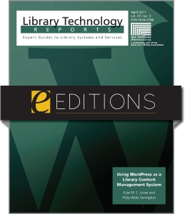 Using WordPress as a Library Content Management System--eEditions e-book