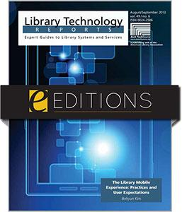 The Library Mobile Experience: Practices and User Expectations—eEditions e-book
