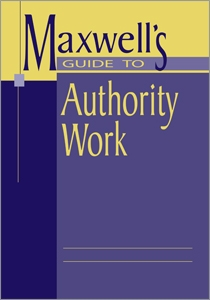 Maxwell's Guide to Authority Work