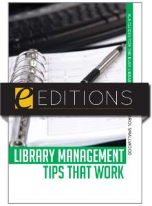 Library Management Tips that Work--eEditions e-book