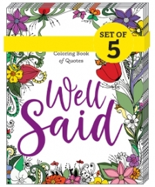 Well Said: The Library Lovers Coloring Book of Quotes (5-PACK BUNDLE)