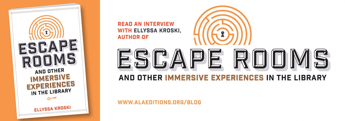 "click here to read the blog post ""Ellyssa Kroski on why escape rooms and other immersive experiences make for great library programs"""