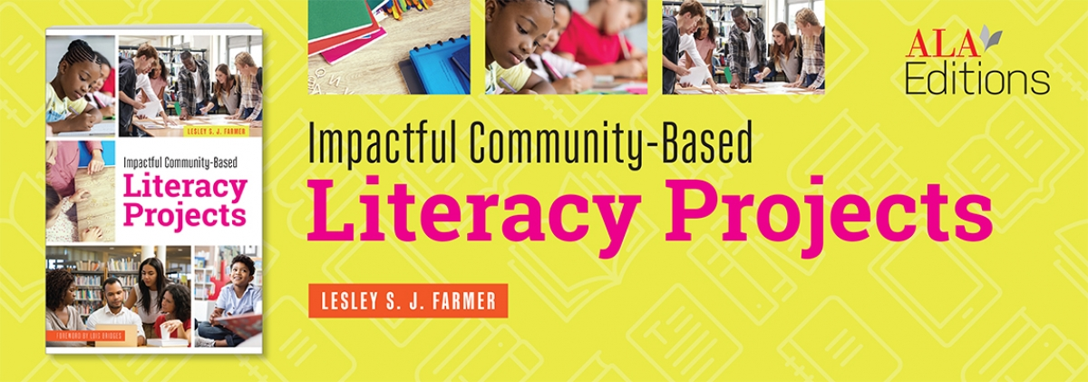 book cover for Impactful Community-Based Literacy Projects Lesley S. J. Farmer
