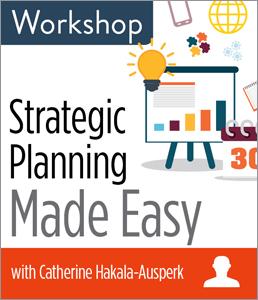 Image for Strategic Planning Made Easy Workshop