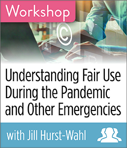 Image for Understanding Fair Use During the Pandemic and Other Emergencies Workshop—Group Rate