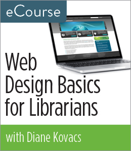 Image for Web Design Basics for Librarians eCourse
