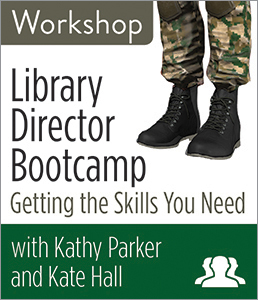 Two feet with military boots and fatigues, with the title of the workshop, the name of the instructors (Kathy Parker and Kate Hall), and a silhouette of multiple people indicating this is a group rate product.