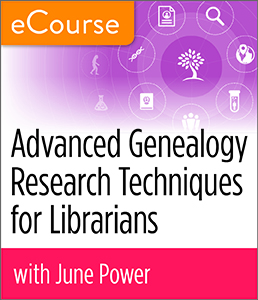 Image for Advanced Genealogy Research Techniques for Librarians eCourse