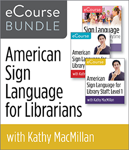 Image for American Sign Language for Librarians eCourse Bundle